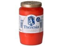 Bolsius Theresia kompozitní 155g ~58h červená