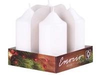 Emocio adventní válec 4ks 40x75 Lak bílé svíčky