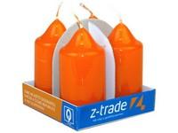 Válec 4ks 40x75 Lak oranžové svíčky