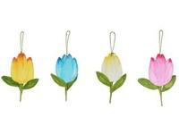 Závěs Tulipán 200 mm papírová dekorace mix