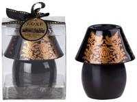 Lampička Brokát 91x57 černo-zlatá svíčka