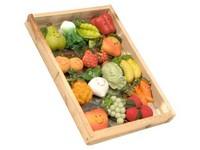 Magnet ovoce v dřev. krabičce 15 ks