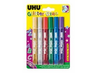 UHU Glitter Glue 6 x 10 ml Original
