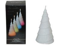 Stromek LED dioda 65x130 třpyt. bílá svíčka měnící barvu