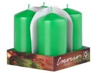 Emocio adventní válec 4ks 50x90 Lak zelené svíčky
