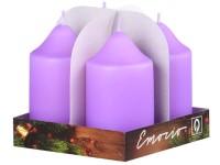Emocio adventní válec 4ks 50x90 sv. filové svíčky