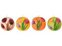 Tulipány 2. Koule 90 mm vonná svíčka mix