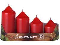Emocio adventní stupně 4ks prům.50mm červené svíčky