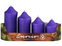 Emocio adventní stupně 4ks prům.50mm fialové svíčky