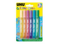 UHU Glitter Glue 6 x 10 ml Shiny