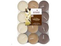 Spaas Čajové 24ks Vanilla vonné svíčky plato