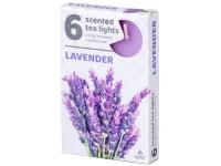 Čajové 6ks Lavender vonné svíčky