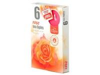 Čajové 6ks Rose vonné svíčky