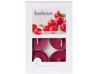 Bolsius Aromatic Čajové 6ks Wild Cranberry vonné svíčky