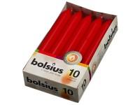 Bolsius Domácí 10ks 20x170 červené svíčky RAL