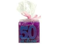 Kostka Vše nejlepší 50 let 53 mm vonná svíčka