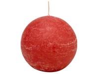 Emocio Rustic koule 80mm červená svíčka