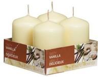 Bolsius NR Válec 4ks 40x60 Tasty Vanilla vonná svíčka