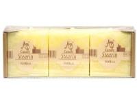 Stearin Kostka 3ks 47mm Vanilka vonná svíčka