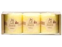Stearin Válec 3ks 50x50 Vanilka vonná svíčka