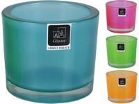 Svícen Masiv sklo 80x93mm mix barev