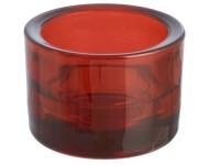 Svícen sklo 57x83 bordó na mal./velkou čajovou svíčku