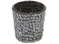 Svícen sklo 60 mm mosaic černá na votiv svíčku