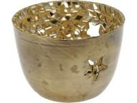 Svícen sklo 75x55 mm mosaic zlatá na čajovou svíčku