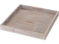 Tác dřevo 250x250 mm, světle hnědý