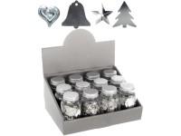 Dekorativní konfety 90g stříbrné mix