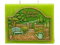 Garden Plochá 130x110 Dva knoty vonná svíčka