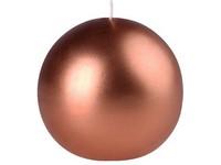 Emocio Elegance koule 80mm Metal měď svíčka