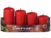 Emocio adventní stupně 4ks prům.40mm červené svíčky