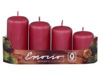 Emocio adventní stupně 4ks prům.40mm bordó svíčky