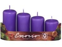 Emocio adventní stupně 4ks prům.40mm tm.fialové svíčky
