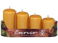 Emocio Stupně 4ks prům.40mm Metal Mat zlaté svíčky