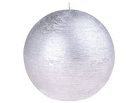 Emocio Rustic koule 80mm stříbrná svíčka