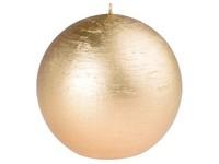 Emocio Rustic koule 80mm zlatá svíčka