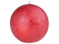 Emocio Rustic koule 80mm metal červená svíčka