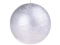 Emocio Rustic koule 100mm stříbrná svíčka