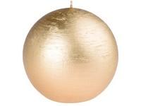 Emocio Rustic koule 100mm zlatá svíčka