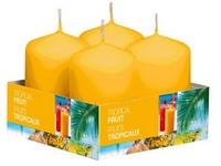 Bolsius NR Válec 4ks 40x60 Tropical Fruit vonná svíčka