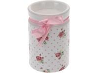 Svícen keramika 65x95mm růže na čaj. svíčku