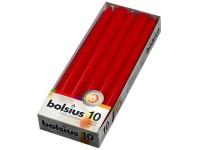 Bolsius Kónická 10ks 24x245 červená svíčka RAL