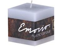 Emocio Rustic kostka 50mm šedá svíčka