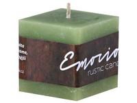 Emocio Rustic kostka 50mm olivová svíčka