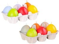 Vajíčka 6 ks 40 mm svíčky pastelové barvy mix