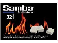 Podpalovač SAMBA 32 ks 260 g kostky bílé