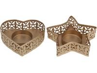 Svícen kov 100x26 mm zlatý na čajovou svíčku mix