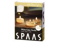Spaas Čajové 24ks White cake vanilla clearlight vonné svíčky
